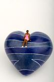 Black girl in love miniature Stock Images