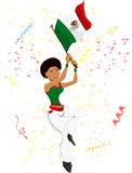 Black Girl Mexico Soccer Fan Royalty Free Stock Photo