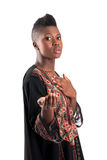Black girl with outstretched hand Stock Photos