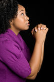 Black Girl Praying Stock Images
