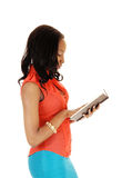 Black girl reading. Stock Photos