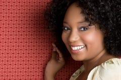 Black Girl Smiling. Happy beautiful black girl smiling Royalty Free Stock Photos