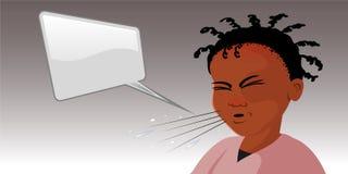 Black girl sneezing Stock Photography