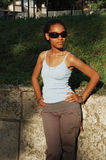Black girl in sunglasses Stock Photography
