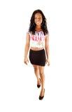 Black girl walking Royalty Free Stock Image