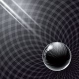 Black Glass Ball And Rays Of Light. Stock Photography