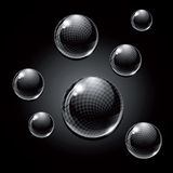 Black Glass Balls. Royalty Free Stock Photo