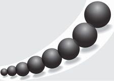 Black glass balls Stock Photography