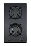 Black glass gas hob Stock Image