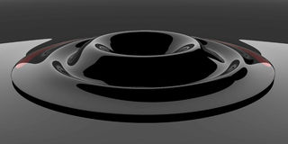 Black Glass Ripple. Colored Glass 3d Shapes, background Royalty Free Stock Images