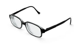 Black glasses. Pair of black glasses isolated on white Stock Photography