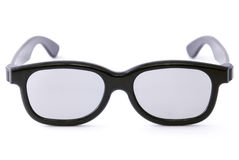 Black glasses. Isolated on white background Royalty Free Stock Photos
