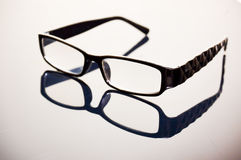 Black glasses frame Royalty Free Stock Image
