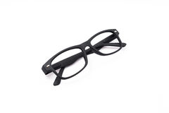 Black Glasses. Isolated on white background Royalty Free Stock Image