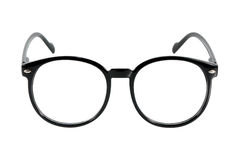 Black glasses, isolated on white Stock Photos