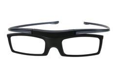 Black glasses, isolated on white Stock Image
