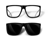 Black glasses. Vector Stock Images