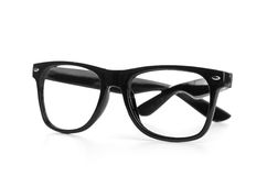 Black glasses on a white background Royalty Free Stock Photo