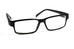 Black glasses on white Royalty Free Stock Photo