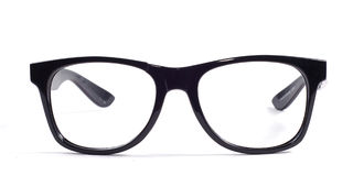 Black glasses. On a white background Royalty Free Stock Photo