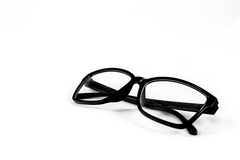 Black glasses. On white background Royalty Free Stock Images