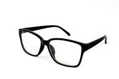 Black glasses. On white background Royalty Free Stock Photo