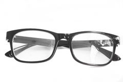Black glasses. On white background Royalty Free Stock Photography