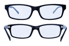Black glasses on a white background Royalty Free Stock Photography