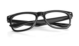 Black glasses on a white background Stock Images