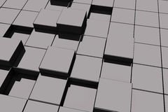 Black glassy cubes Royalty Free Stock Photo