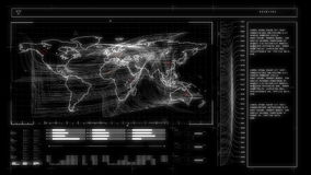 Black global business interface stock video footage