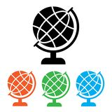Black globe icon. Colorful set additional versions globe icons. Vector vector illustration