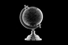 Black Globe isolated on black background Stock Photography