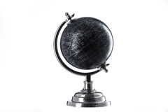 Black Globe isolated on white Royalty Free Stock Photos