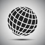 Black globes  - vector. Black world globes  - stock vector Stock Photography