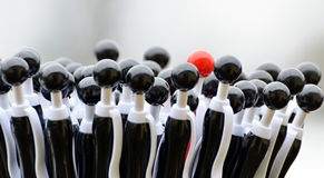 Black globule ballpoint pens. Black globule ballpoints pens with a red one Stock Images