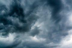 Black gloomy clouds sky Royalty Free Stock Image
