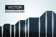 Black glossy abstract background. Futuristic. Design template. This is file of EPS10 format Stock Image