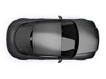 Black glossy auto top view Stock Images