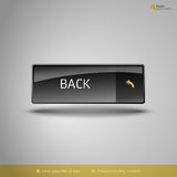 Black Glossy Button Stock Photography