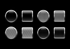 Black glossy buttons Royalty Free Stock Image