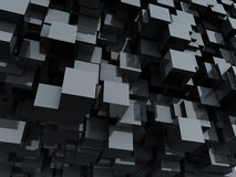 Black glossy cubes background. Royalty Free Stock Image