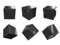 Black glossy cubes Royalty Free Stock Image