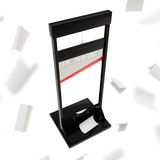 Black glossy guillotine as a deadline Stock Image