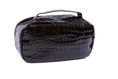 Black glossy handbag Royalty Free Stock Photos