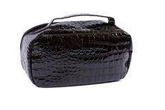 Black glossy handbag royalty free stock photos