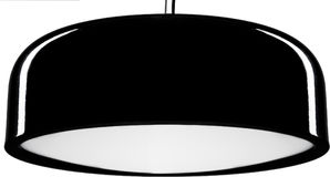 Black glossy hanging Lamp. lamp isolated on white. Royalty Free Stock Images