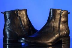 Black glossy man's shoes Stock Photo