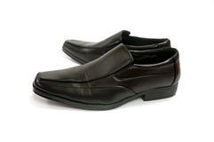 Black glossy man shoe isolated Stock Image