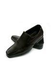 Black glossy man shoe isolated Royalty Free Stock Image